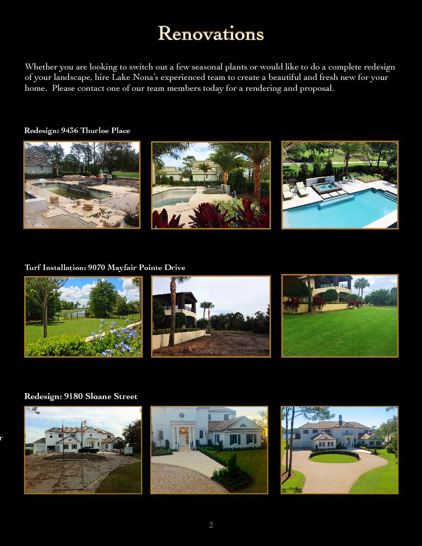 redesign  of your landscape, hire Lake