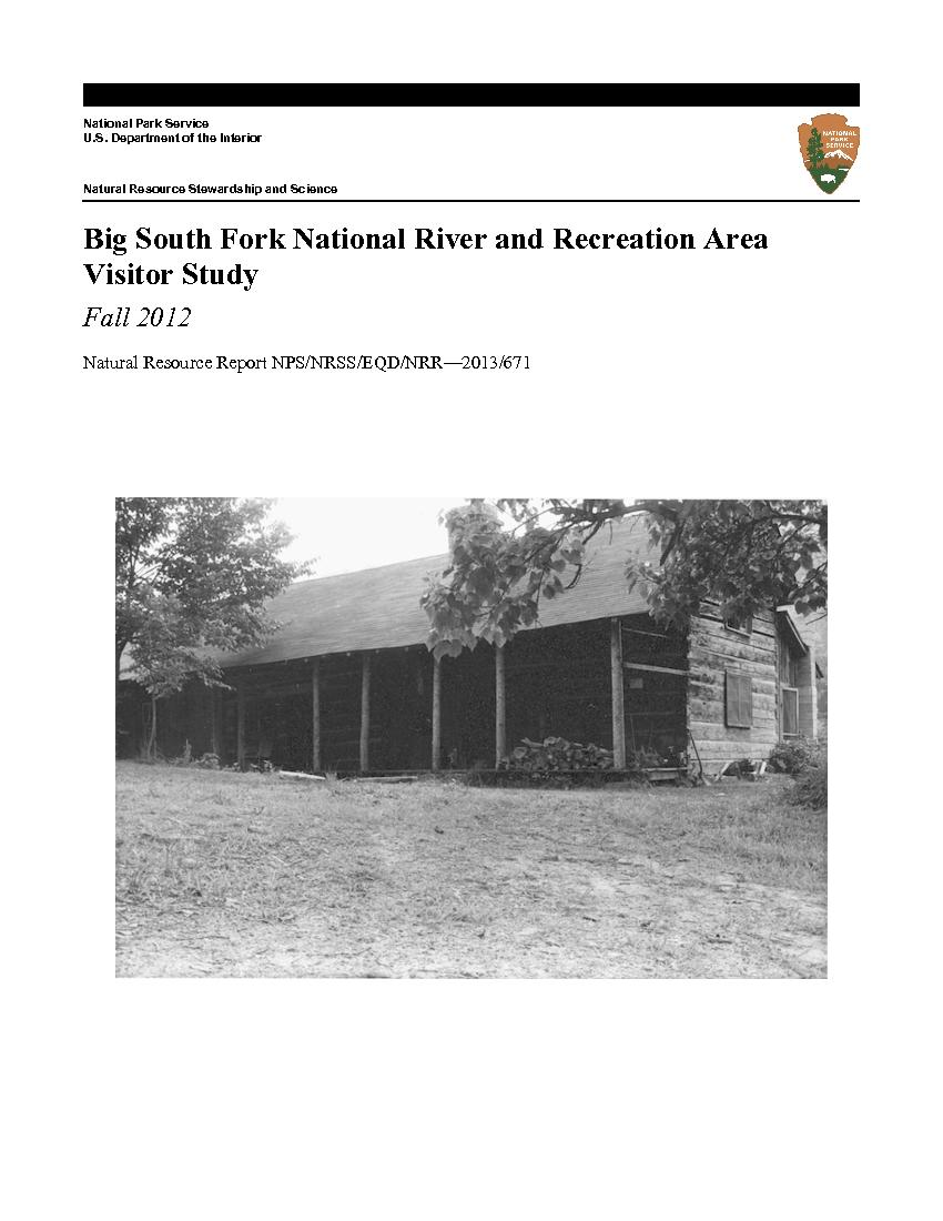 Visitor Study Fall 2012 Natural Resource
