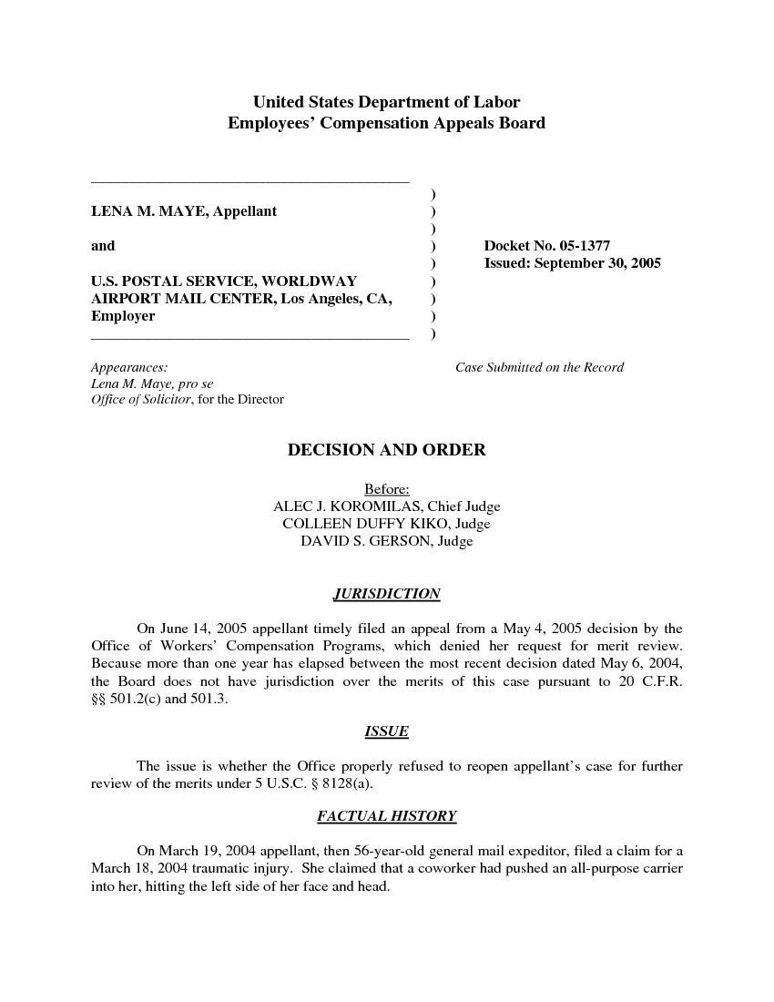 LENA M. MAYE, Appellant U.S. POSTAL SERV