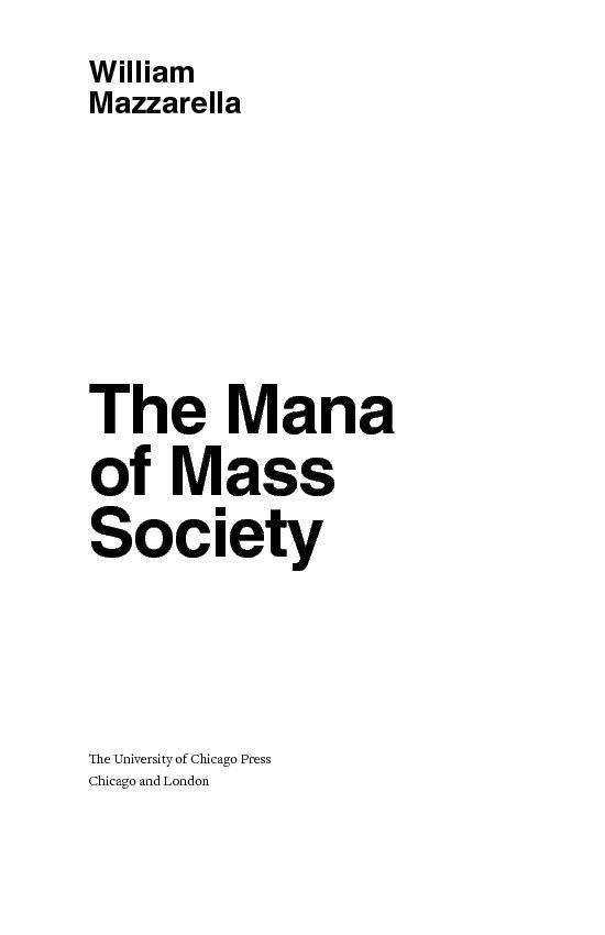 MazzarellaThe Mana of Mass e Univer