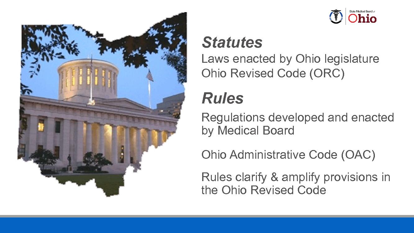 in the Ohio Revised Code Medical Board M