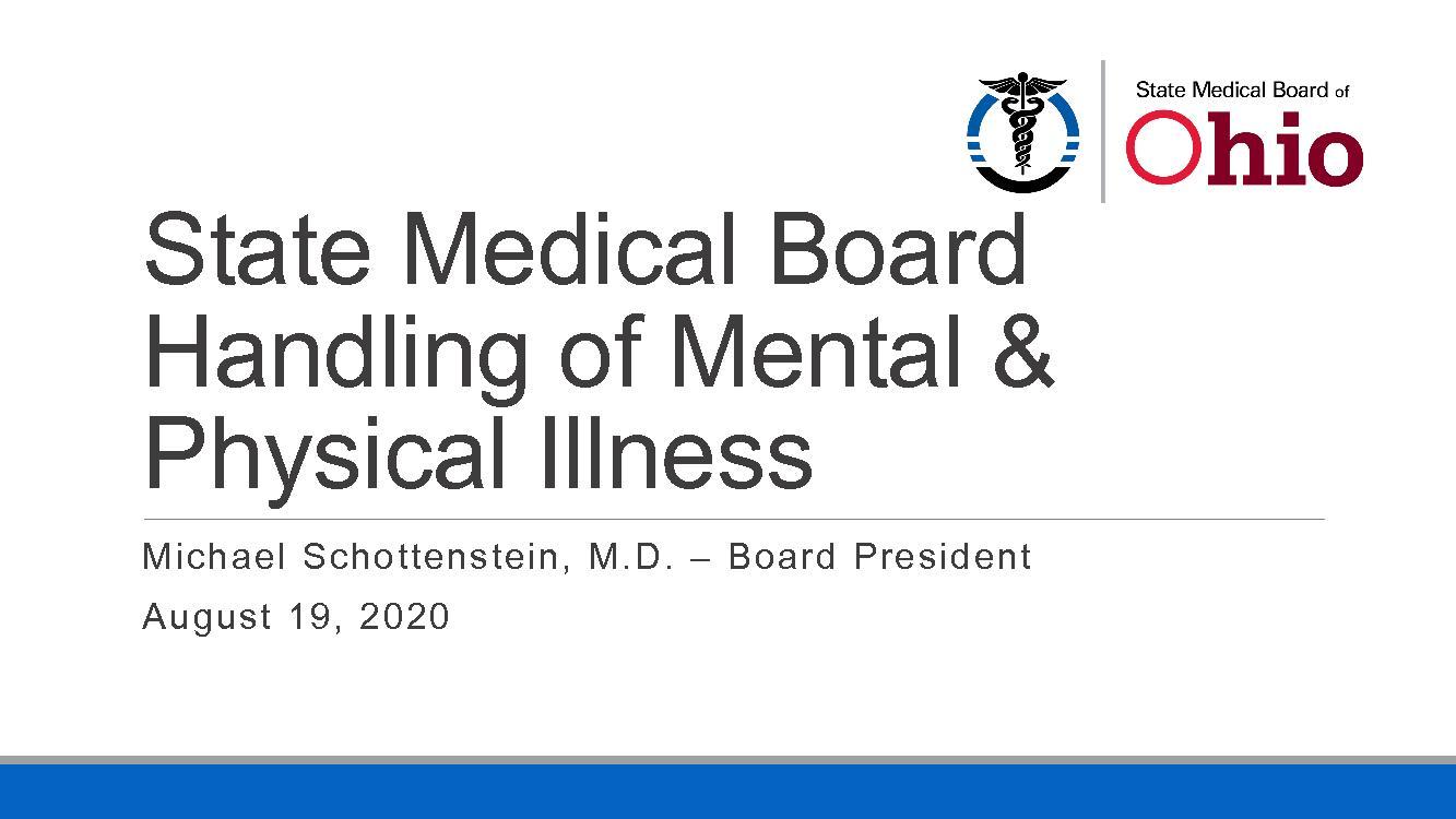 State Medical Board Handling of Mental &