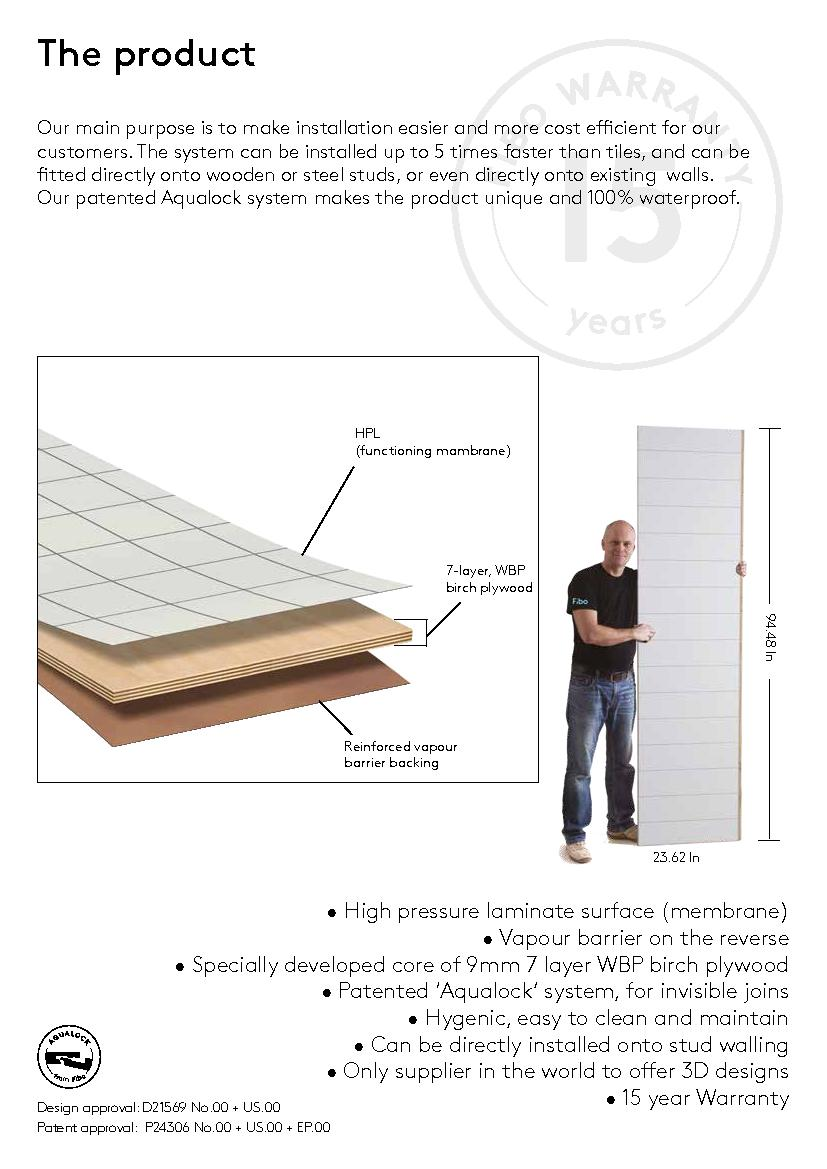 be directly installed onto stud walling