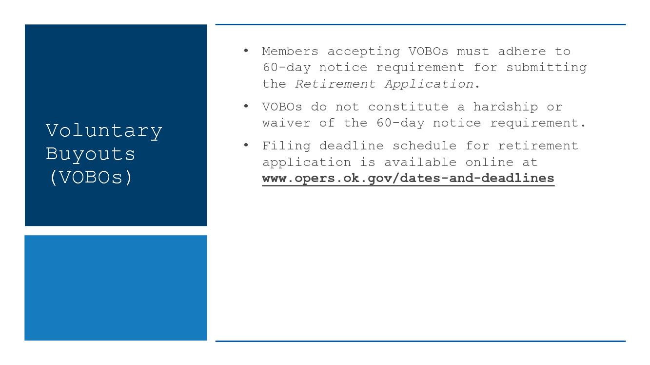 e to 60-day notice requirement for submi