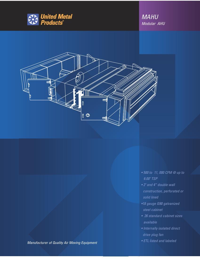 Modular AHUMAHU• 500 to 11,000 CFM
