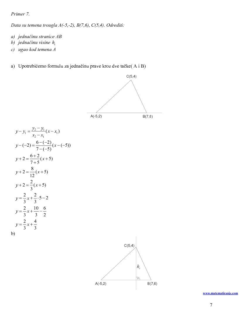 �+=→=→−+−=Prava kroz ta(,)Axy sa