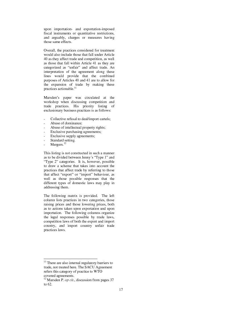isparities between markets and authoriti